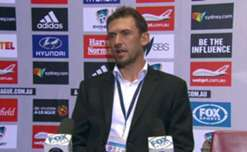 Wanderers boss Tony Popovic chats to the media following his side's 3-1 loss at Allianz Stadium.