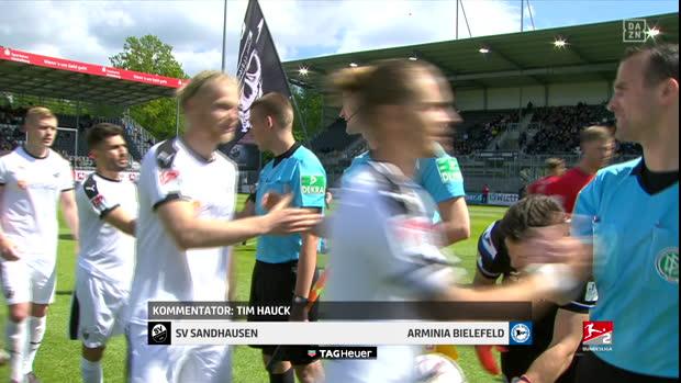 2. Bundesliga: SV Sandhausen - Arminia Bielefeld   DAZN Highlights
