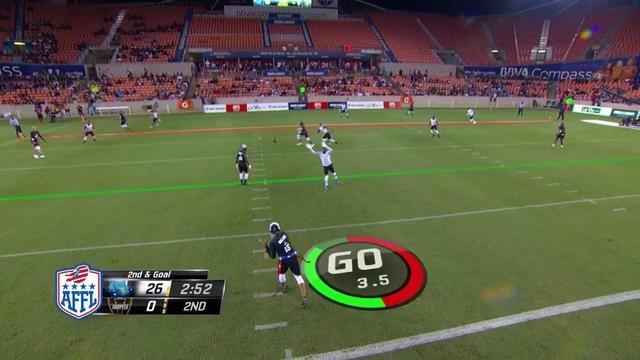 AFFL Ultimate Final: Godspeed's Seneca Wallace touchdown pass to Jason Avant