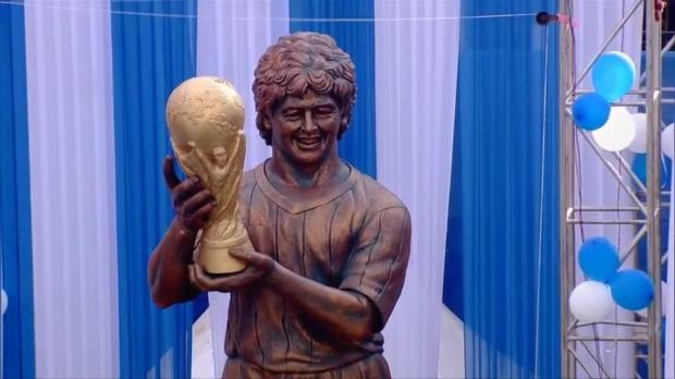 Ronaldo-Déjà-vu: Maradonas Statue in Kalkutta