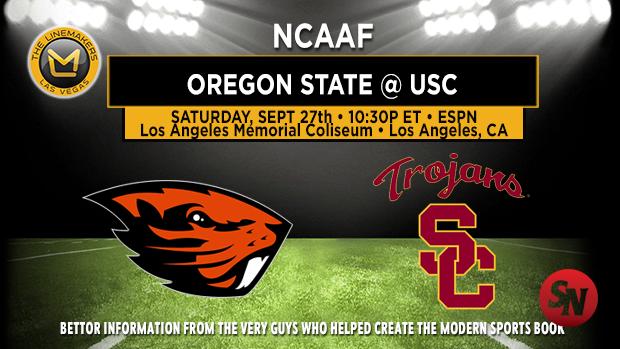 Oregon State Beavers @ USC Trojans