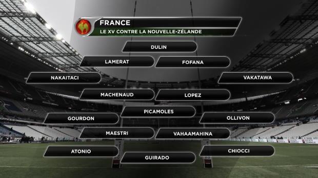 XV de France - Lopez à l'ouverture contre la Nouvelle-Zélande