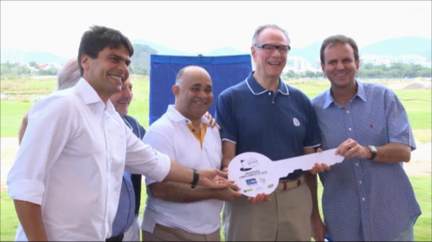 Completed golf course handed to Olympic Games organisers