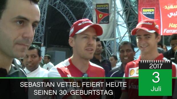 Born this day: F1: Vettel feiert seinen 30.