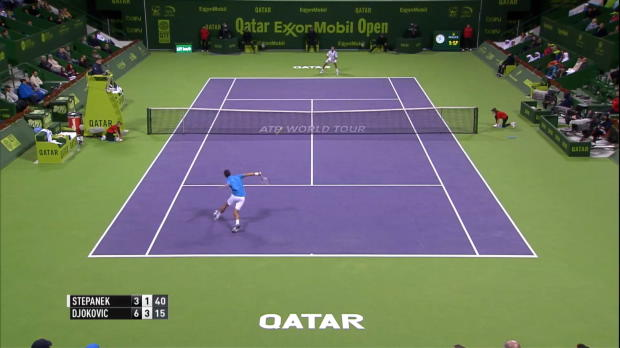 Doha: Djokovic lässt Stepanek keine Chance