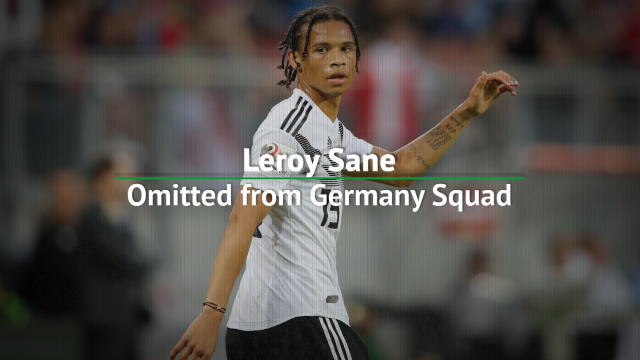 Leroy Sane omitted from Germany squad Thumbnail