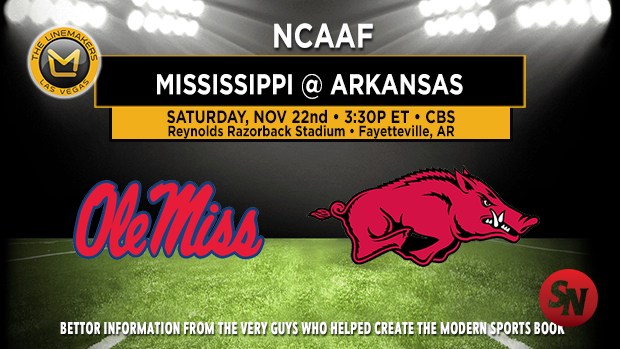 Ole Miss Rebels @ Arkansas Razorbacks