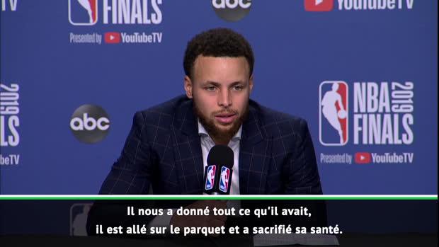 """Basket : Finals - Curry - """"Je suis tellement mal pour KD"""""""