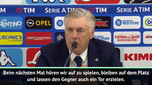 """Ancelotti: """"Beim nächsten Mal hören wir auf!"""""""