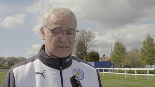 Meister-Coach Ranieri mit Dankesrede