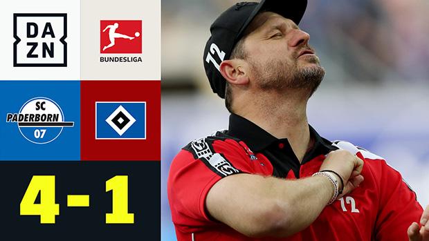 2. Bundesliga: SC Paderborn - Hamburger SV   DAZN Highlights