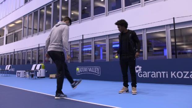 Basket : Masters - Le concours de jonglage entre Thiem et Willian