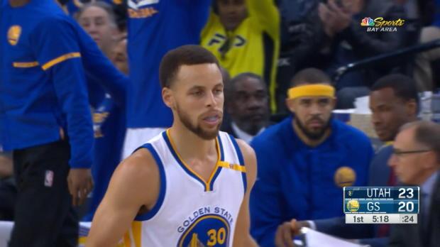 Curry, de dulce pese a la derrota