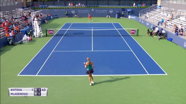 Tennis : Cincinnati - Kvitova trop forte pour Mladenovic