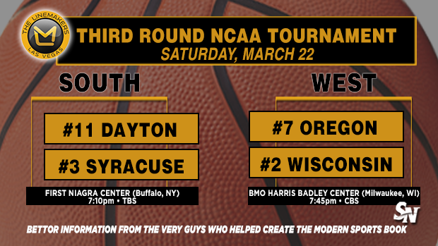 Dayton vs. Syracuse, Oregon vs. Wisconsin