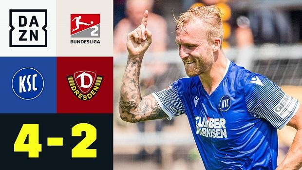 2. Bundesliga: Karlsruher SC - Dynamo Dresden    DAZN Highlights