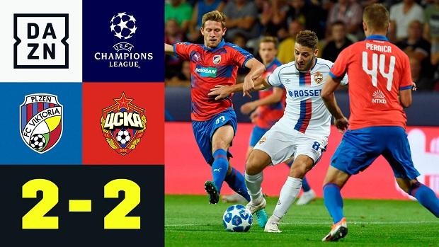 UEFA Champions League: Pilsen - ZSKA Moskau | DAZN Highlights