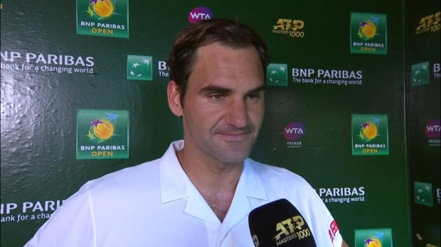 :  Indian Wells - Federer - 'J'ai hâte de jouer ce match'