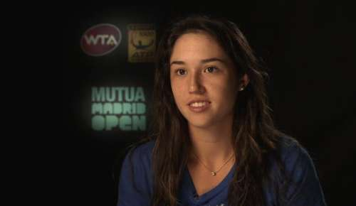 Chirico Interview: WTA Madrid QF