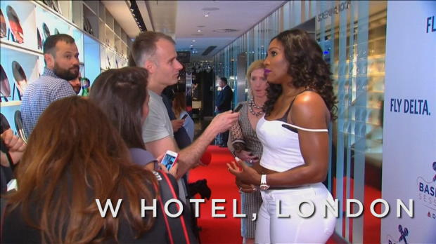 London: Serena Williams als Karaoke-Queen