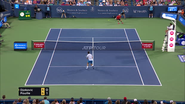Tennis : Cincinnati - Pouille sorti par Djokovic en quarts