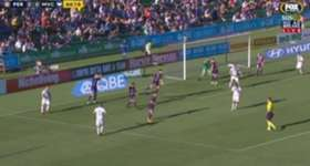 Glory goalkeeper Liam Reddy held his nerve to save a first-half penalty from Besart Berisha at nib Stadium.