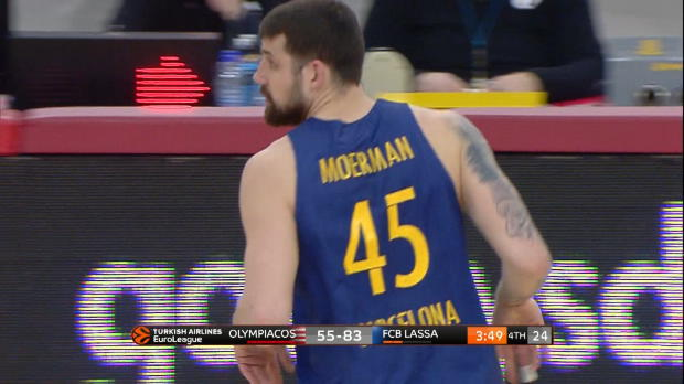 Basket : Euroligue (26e j.) - Moerman brille avec le Barça