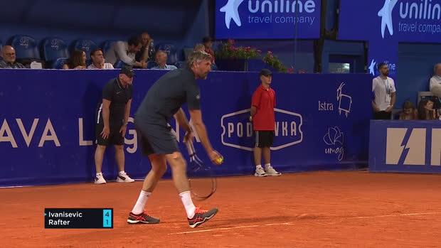 Tennis : Exhibition - 18 ans après Wimbledon, Ivanisevic a encore battu Rafter