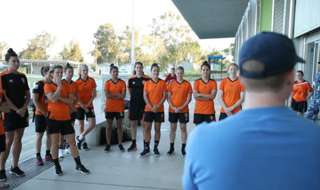 Our Westfield W-League squad warmed up for Sunday afternoon's match against Adelaide United at Suncorp Stadium with a team building visit to Amberley RAAF Base.