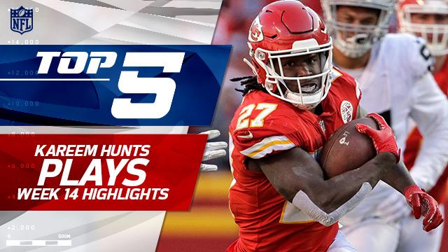 Top 5 Kareem Hunt plays | Week 14