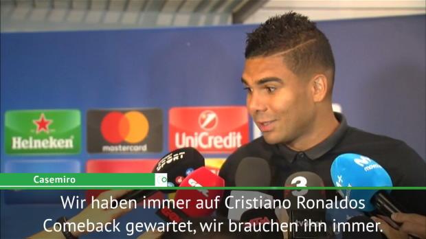 "Casemiro: ""Auf Ronaldos Comeback gewartet"""