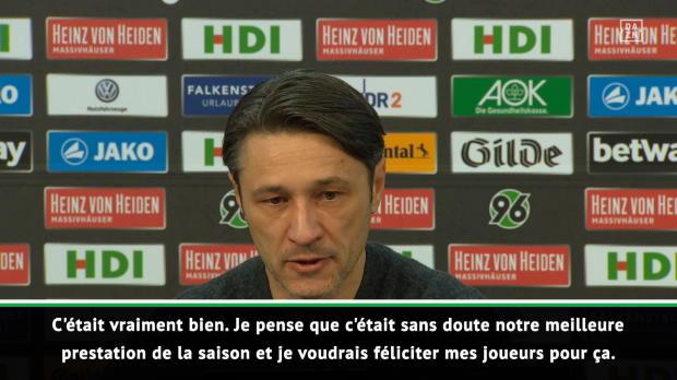 15e j. - Kovac - 'Notre meilleure performance de la saison'