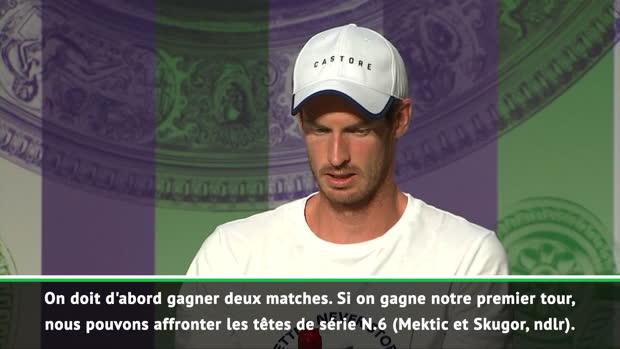 : Wimbledon - Murray - 'Ce serait difficile de jouer contre mon frère'
