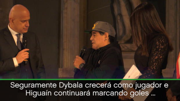 """Maradona: """"Messi es el mejor e Higuaín es así-así con el balón"""""""