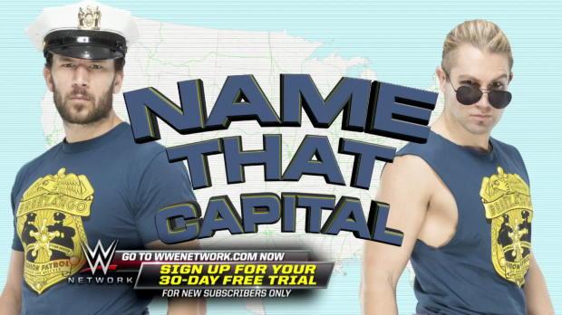 Tyler Breeze quizzes Fandango on U.S. state capitals on WWE Ride Along (WWE Network Exclusive)