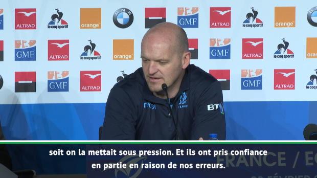 XV de France - Townsend - 'Tout s'est joué dans les premières minutes'