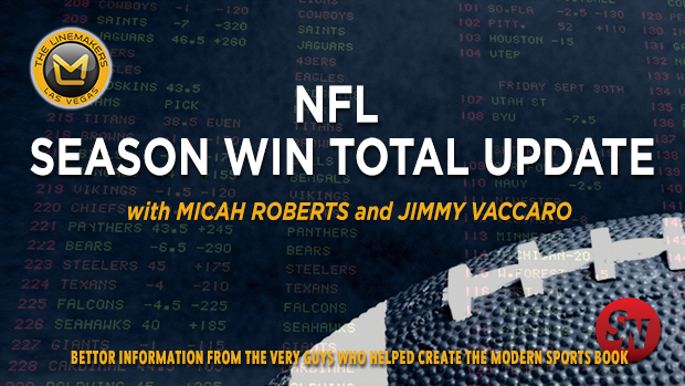 NFL Season Win Totals Update