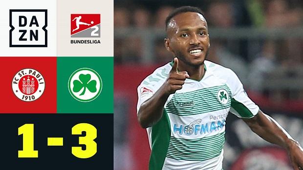 2. Bundesliga: FC St. Pauli - SpVgg Greuther Fürth   DAZN Highlights