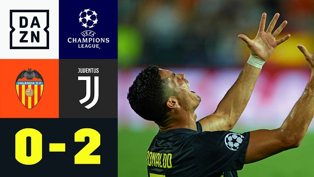 UEFA Champions League: Valencia - Juventus | DAZN Highlights