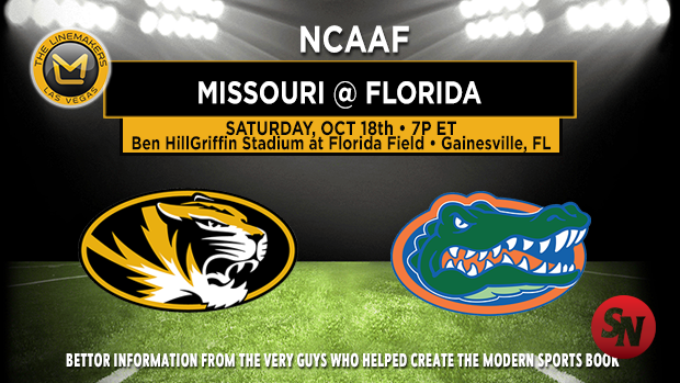 Missouri Tigers @ Florida Gators