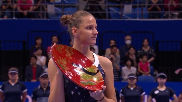Tennis : Tokyo - Pliskova titrée, Osaka à bout de souffle