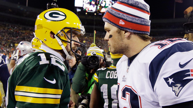 What will happen when Tom Brady and Aaron Rodgers go head to head in 2018?