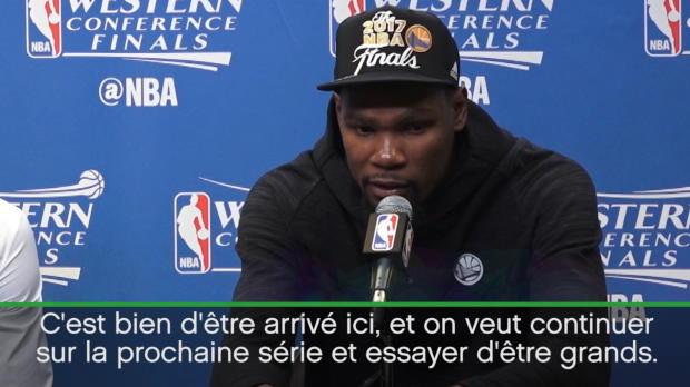 """Basket : NBA - Playoffs - Durant - """"Être à 12-0 n'a aucune importance"""""""