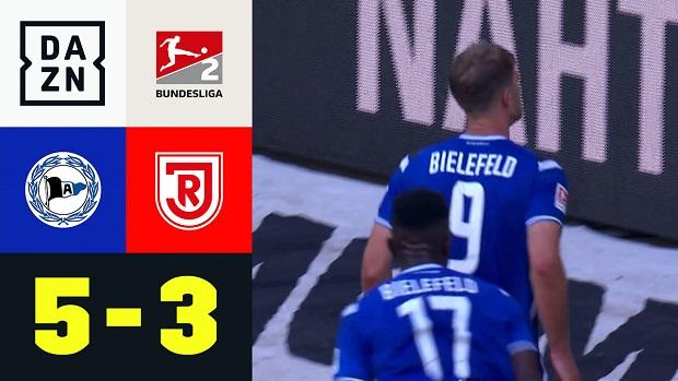 2. Bundesliga: Arminia Bielefeld - SSV Jahn Regensburg | DAZN Highlights