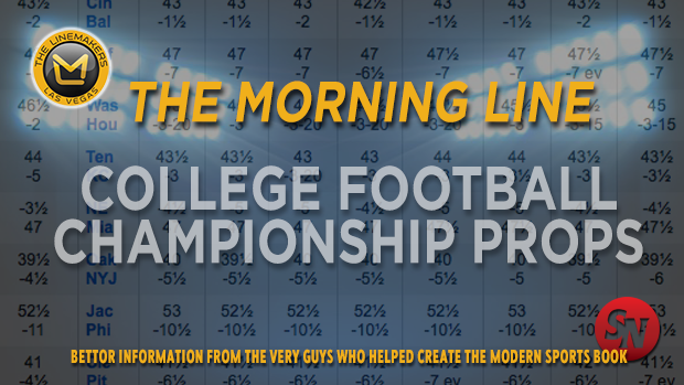 Morning Line Props: College Football Championship