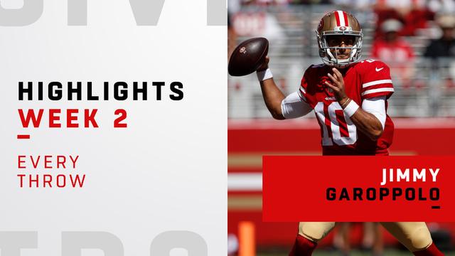 Every Jimmy Garoppolo throw | Week 2