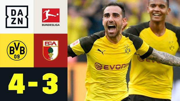 Bundesliga: Borussia Dortmund - FC Augsburg | DAZN Highlights