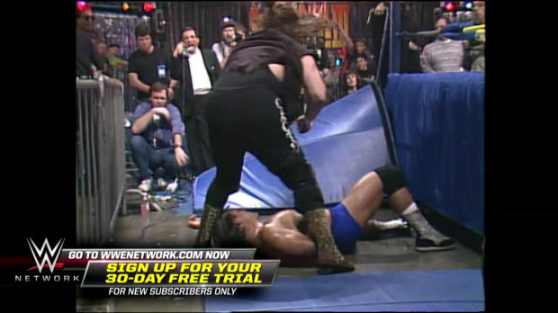Cactus Jack brutalizes Paul Orndorff in a Falls Count Anywhere Match: WCW SuperBrawl III (WWE Network Exclusive)