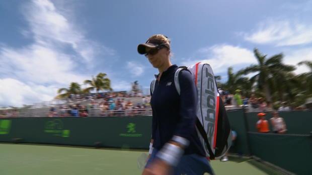 WTA - Miami - M. Lucic-Baroni sort Radwanska
