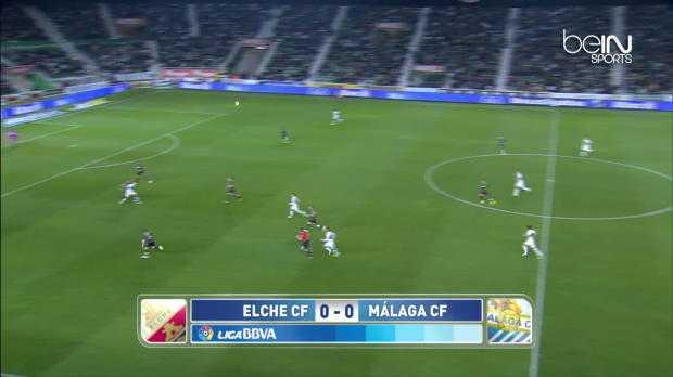 Liga : Elche 1-2 Malaga